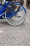 Bicycle on the city street Royalty Free Stock Images
