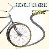 bicycle classic style and brush stroke Stock Image