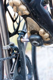 Bicycle cleats in action Stock Image
