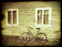 A bicycle close the house Royalty Free Stock Photo