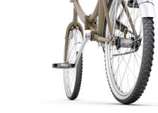 Bicycle close up on a white Stock Photography