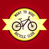 Bicycle club want to ride stock photography