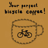 Bicycle coffee Stock Photography