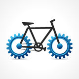 Bicycle with cog wheel Royalty Free Stock Photos