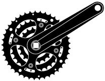 bicycle cogwheel sprocket. Bicycle cogwheel sprocket crankset symbol  eps 10 Royalty Free Stock Photo