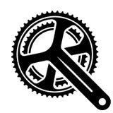 Bicycle cogwheel sprocket crankset symbol Royalty Free Stock Photo