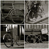 Bicycle collage. Collage of various images of old bicycles Stock Photo