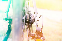 Bicycle color filter. Beautiful bicycle made with color filters royalty free stock images