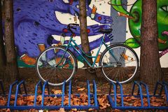 Bicycle and Colorful Environment royalty free stock photos