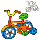 Bicycle. Coloring book page. Cartoon vector illustration vector illustration