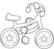 Bicycle coloring page Royalty Free Stock Image