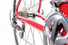 Bicycle Concept. Crankset and Rear cassette with New Cahin. Agai Royalty Free Stock Image