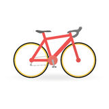 Bicycle concept by Mountain bike is red color Stock Images