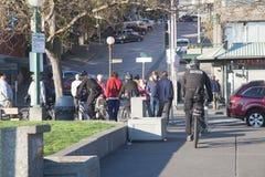 Bicycle cops patrolling Royalty Free Stock Image