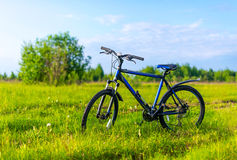 The bicycle costs in a grass Stock Photo
