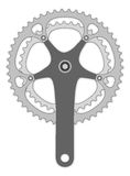 Bicycle cranck arm Stock Images