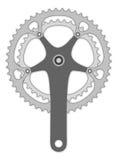 Bicycle cranck arm Stock Images