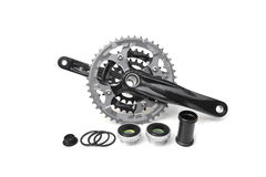 Bicycle crank. For mountain bike with bottom brackets Royalty Free Stock Photos