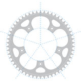 Bicycle crank - Vector drawing