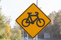Bicycle crossing ahead. Bicycle Crossing Sign , New South Wales, Australia Vector Illustration