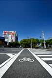 Bicycle crossing path Stock Photography