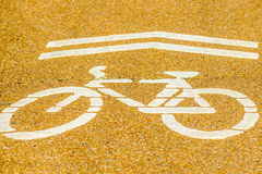 Bicycle crossing Stock Photos