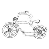 Bicycle. Cute simple sketch of the bicycle, Isolated on white Royalty Free Stock Photos