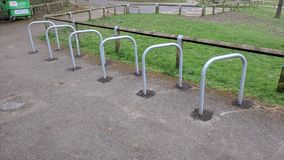 Bicycle Park Lock area at Capstone Park, Medway Kent, UK royalty free stock photography