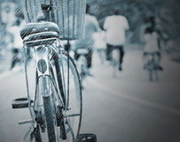 Bicycle. Cycling on a rainy day Stock Photo