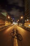 Bicycle on Dark Road Royalty Free Stock Photo
