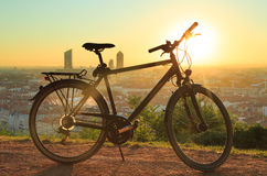 Bicycle at dawn Royalty Free Stock Images