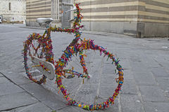 Bicycle decoration Royalty Free Stock Photography