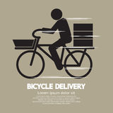 Bicycle Delivery Service Graphic Symbol. Vector Illustration stock illustration
