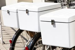 Bicycle delivery service Stock Photography