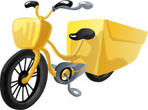 Bicycle delivery. Vector Illustration Royalty Free Stock Image