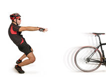 Bicycle desertion Royalty Free Stock Images