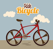 Bicycle design Royalty Free Stock Photography