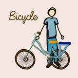 Bicycle, desing  illustration Royalty Free Stock Image