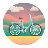 Bicycle Detailed Illustration Royalty Free Stock Images