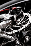 Bicycle disc brake. Rear disc brake on mountain bike Royalty Free Stock Images