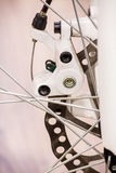 Bicycle disk brake Stock Photos