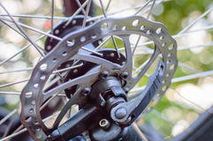 Bicycle disk brake rotor Royalty Free Stock Photography
