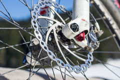 Bicycle disk brake. Royalty Free Stock Photography