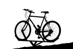 Bicycle display. Bicycle being displayd at a rental place royalty free illustration
