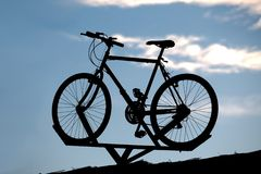 Bicycle display Royalty Free Stock Photography