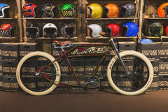 Bicycle on display at EICMA 2014 in Milan, Italy Stock Photos