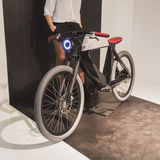 Bicycle on display at EICMA 2014 in Milan, Italy Royalty Free Stock Photography