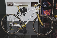 Bicycle on display at EICMA 2014 in Milan, Italy Royalty Free Stock Images