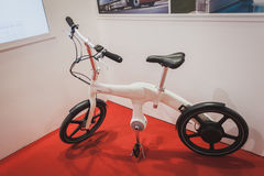 Bicycle on display at Solarexpo 2014 in Milan, Italy Stock Photo