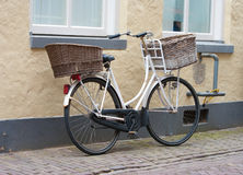 Bicycle with double basket Royalty Free Stock Image